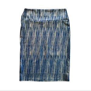 NWT LuLaRoe Cassie Skirt Metallic Elegant